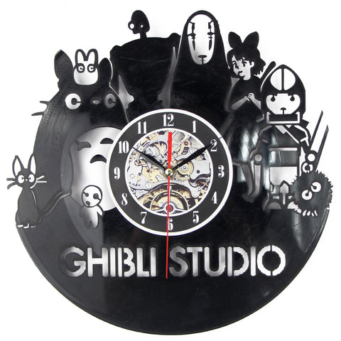 Black Art Studio Ghibli Wall Clock