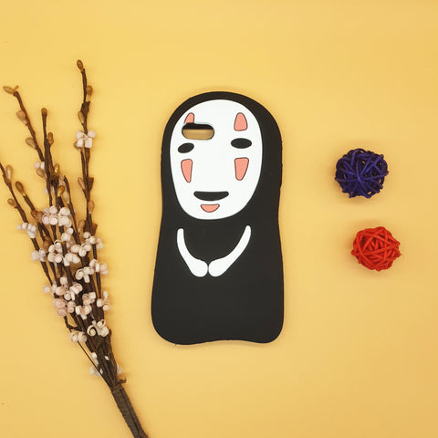 iPhone No Face Man Rubber Case