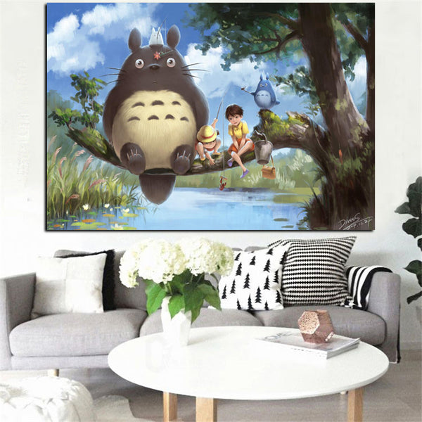 Chilling Under the Tree Poster - Studio Ghibli Shop