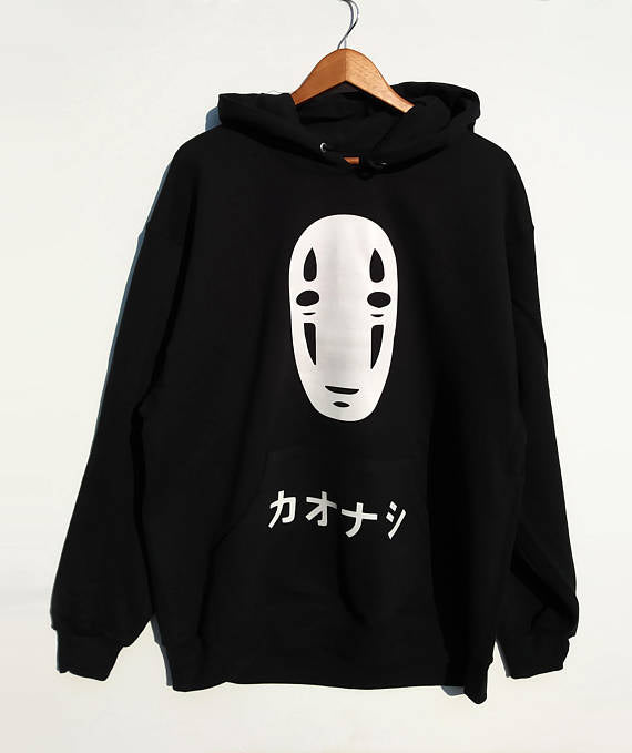 No Face Oversized Hoodie - Studio Ghibli Shop
