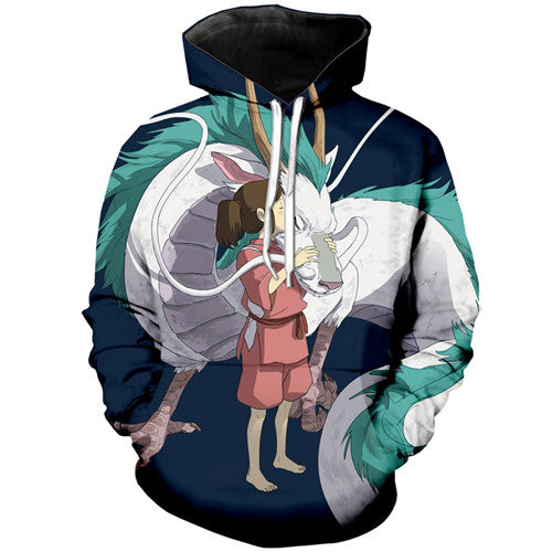 3D Fashion Dragon Hoodie - Studio Ghibli Shop