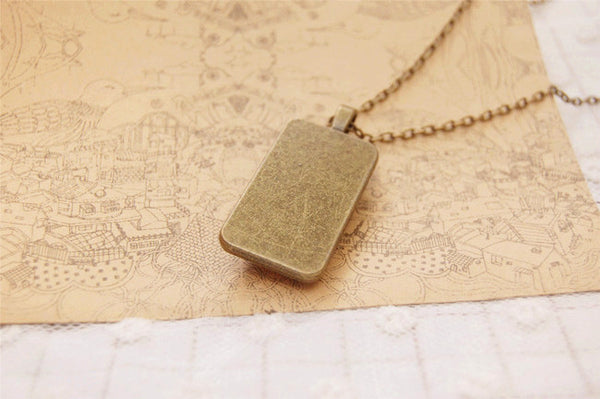Rectangle No Face Man Long Pendant Necklace - Studio Ghibli Shop