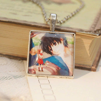 The Borrower Arrietty Square Pendant Neckalcce - Studio Ghibli Shop