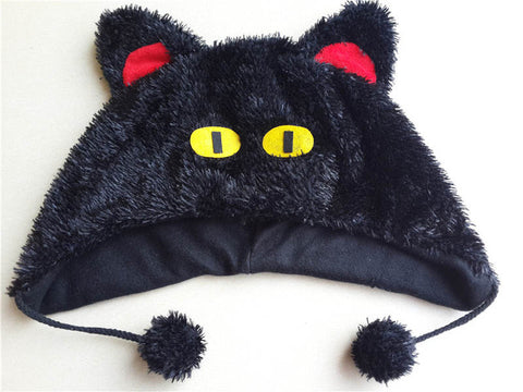 Warmer Beanie Black Cat