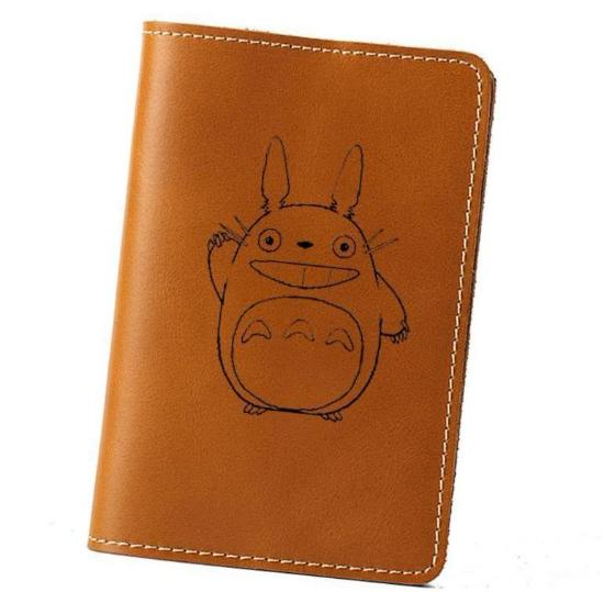 Leather Totoro Passport Holder - Studio Ghibli Shop