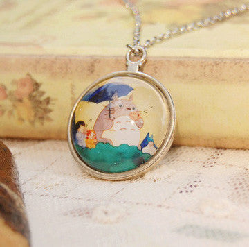 Antique Totoro Clock Necklace - Studio Ghibli Shop
