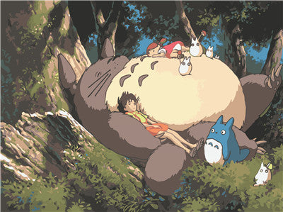 Sleepy Family Poster - Studio Ghibli Shop