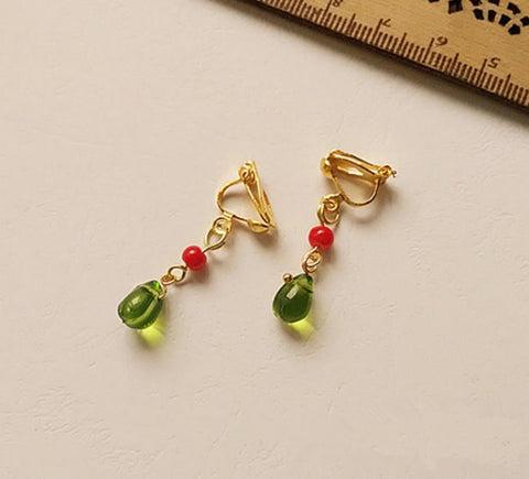 Ghibli Style Dangling Clip Earrings