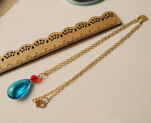 Blue Crystal Necklace - Studio Ghibli Shop