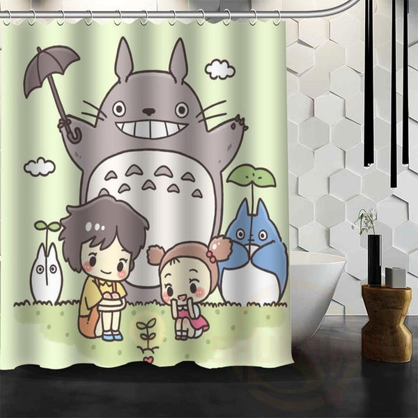 Baby Cartoon Totoro Shower Curtain - Studio Ghibli Shop