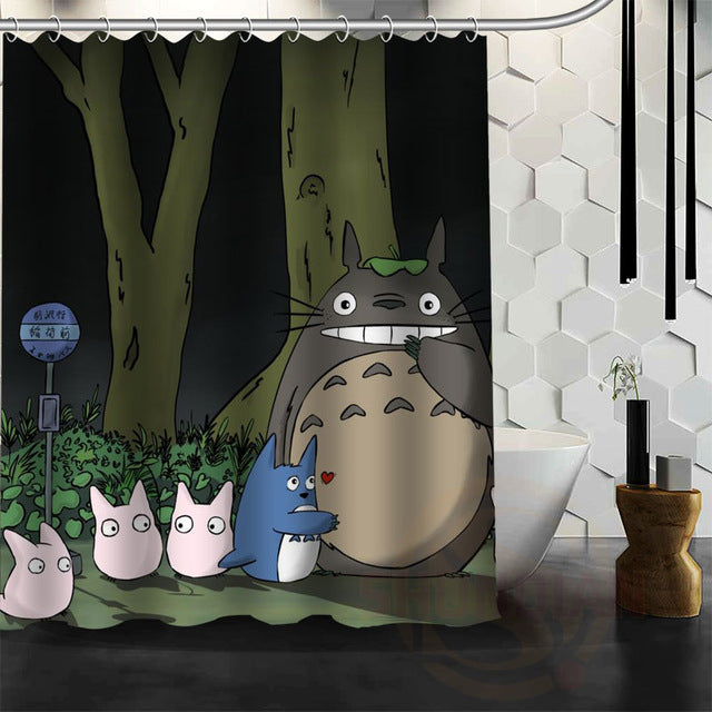 In Line Totoro Shower Curtain