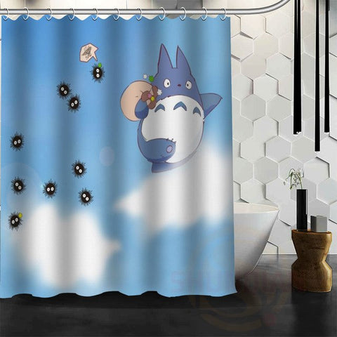 Walking on the Clouds Totoro Shower Curtain