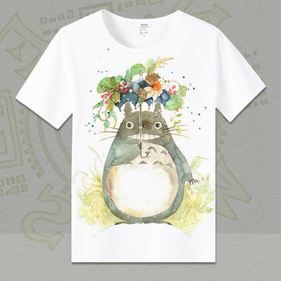 Watercolor Balloon Totoro T-shirt - Studio Ghibli Shop