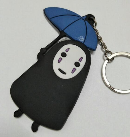 No Face with Umbrella Key Chain