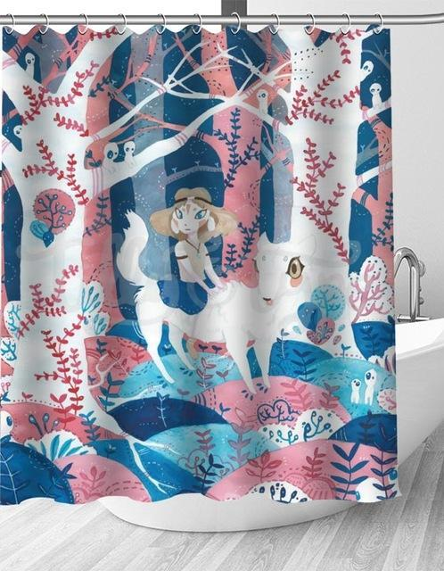Pink And Blue Princess Shower Curtain