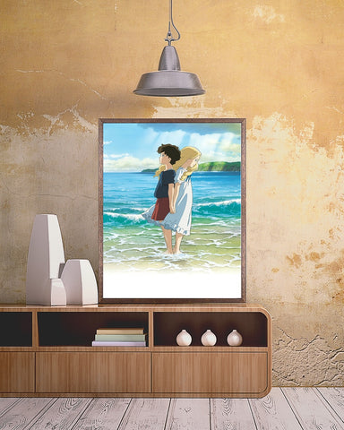 Lovers at the Beach Poster