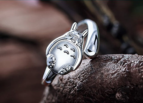 Totoro Sterling SIlver RIng