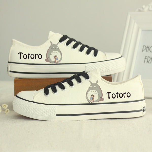 All White Totoro Shoes