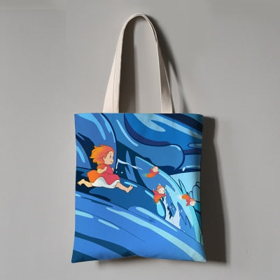 Chasing Ponyo Eco Bag - Studio Ghibli Shop