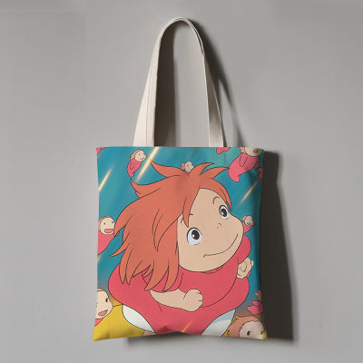 Smile with Me Ponyo Eco Bag - Studio Ghibli Shop
