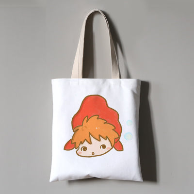 Lazy Ponyo Eco Bag - Studio Ghibli Shop