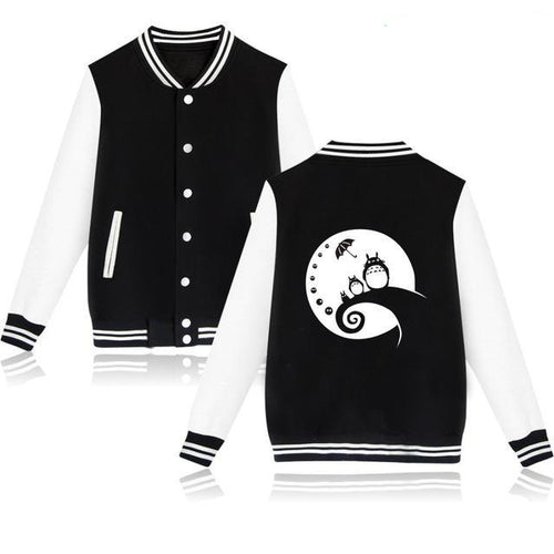 Totoro Moon Gazing Baseball Jacket