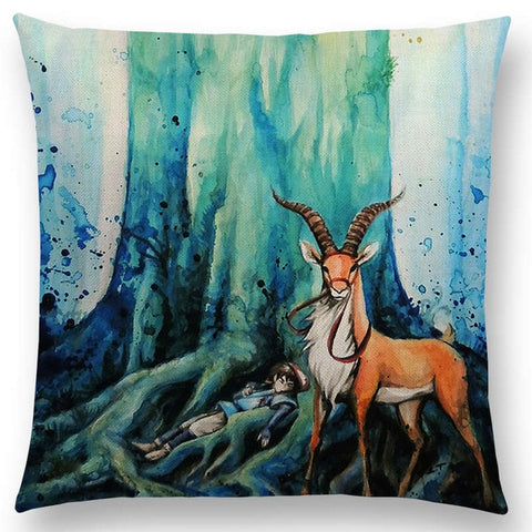 Deer God Mononoke Cushion Cover