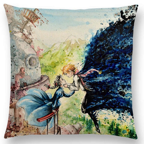 Face to Face Hows moving castle Cushion Cover