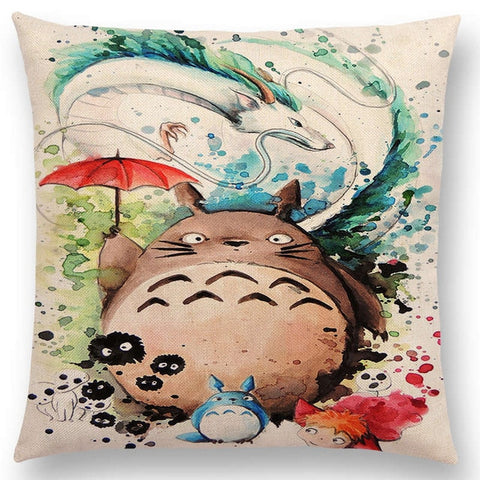 Haku and Totoro Cushion Cover