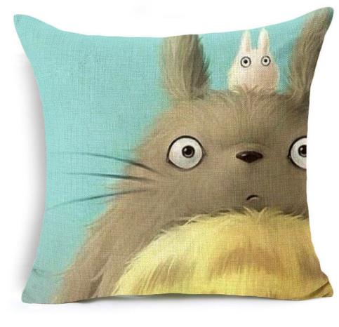 Half Face Totoro Cushion Cover