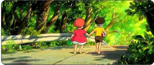 Holding Hands While Walking Mouse Pad - Studio Ghibli Shop