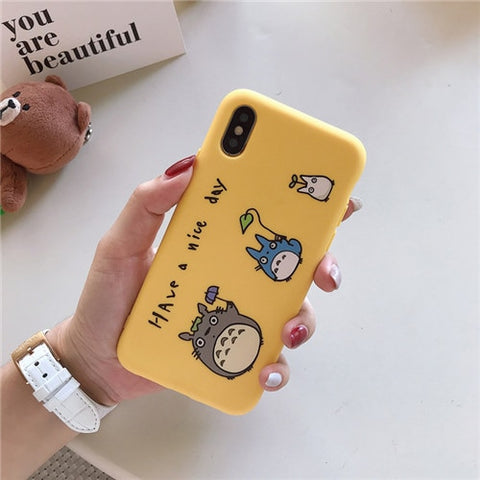Have A Nice Day Totoro iPhone Case