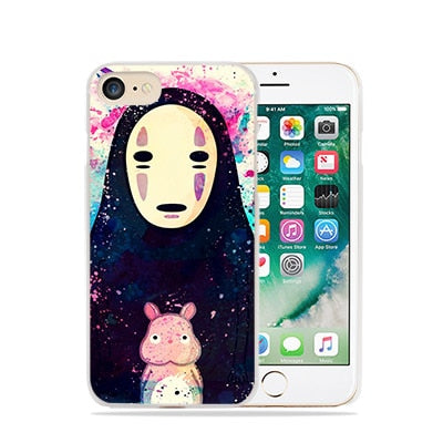 Glittery No Face iPhone Case