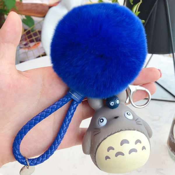 Totoro Ball Cotton Key Chain