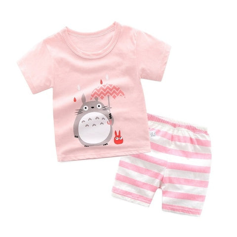 Summer Totoro Striped Set
