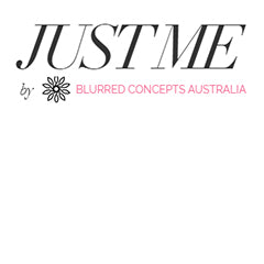 Just me blurred concepts logo