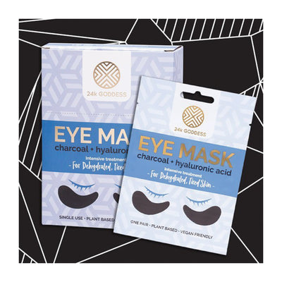 Charcoal + Hyaluronic Acid Eye Mask - 24K Goddess Single Pack