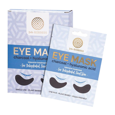 Charcoal + Hyaluronic Acid Eye Mask - 24K Goddess 4 Pack