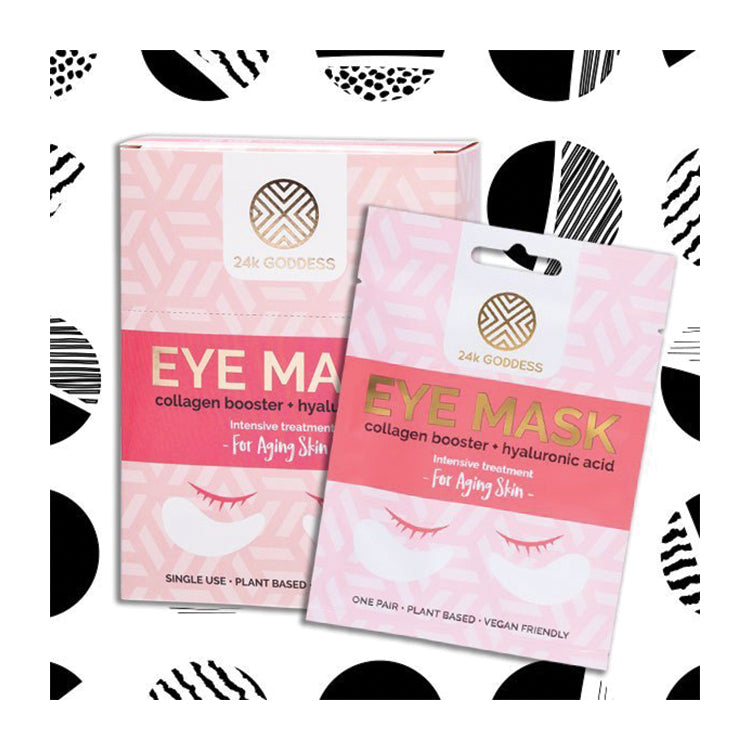 Collagen Booster + Hyaluronic Acid Eye Mask - 24K Goddess Single Pack