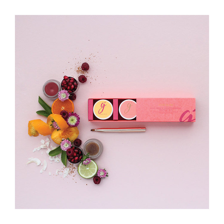 Delicious Duo -  Guava Crush Lip and Cheek Tint + Coconut Smoothie Lip Scrub