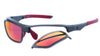 OZ Gloss Graphite Frame - Red Fire Mirror Plano Lens