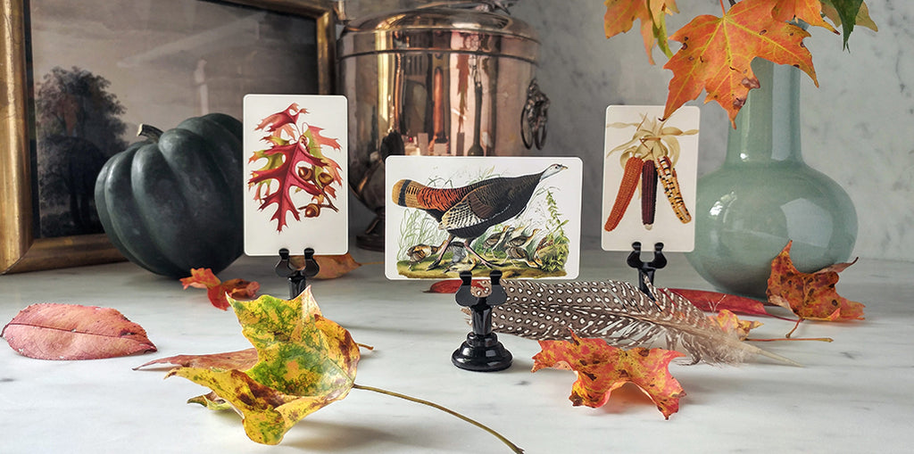 The Punctilious Mr. P's Autumn Tableau Place Cards