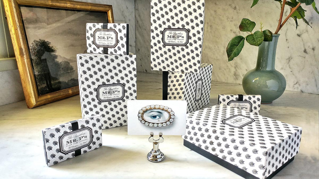 The Punctilious Mr. P's Gift Boxes and graphic packaging