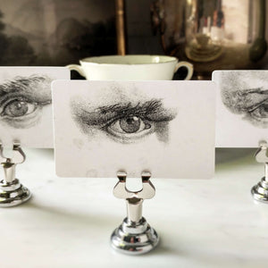Mr. P's 'A Lovers Gaze— male' Place Cards