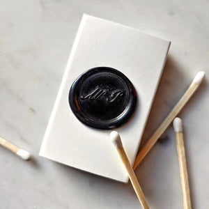 The Punctilious Mr. P's Matchbox with black wax seal