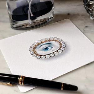 The Punctilious Mr. P's 'lovers eye- pearl' note card pack