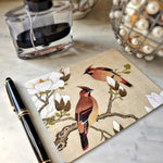 The Punctilious Mr. P's 'silktail cardinal' note card pack