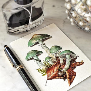 The Punctilious Mr. P's 'verdigris mushroom' note card pack
