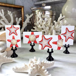 The Punctilious Mr. P's 'Bicolor Starfish' place cards