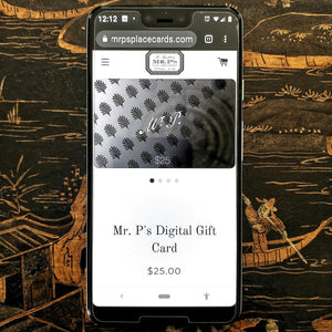 The Punctilious Mr. P's Digital Gift Card on phone,